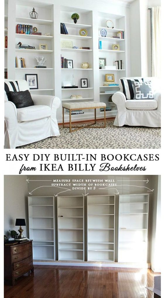 13 Ikea Hacks You Haven't Seen Yet; unique and amazing ways to transform your Ikea purchases into fabulous home decor. || Billy Bookcases - Nikki's Plate www.nikkisplate.com