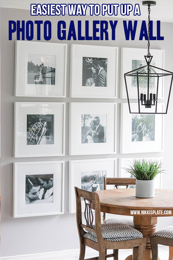 The easiest way to put up a gallery wall: gallery wall tips to hang your pictures perfectly the first time!