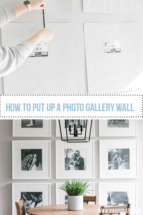 Large Photo Gallery Wall: tips and tricks for putting up your very own picture galleries! Living room or dining room! {DIY + Wall Makeover}