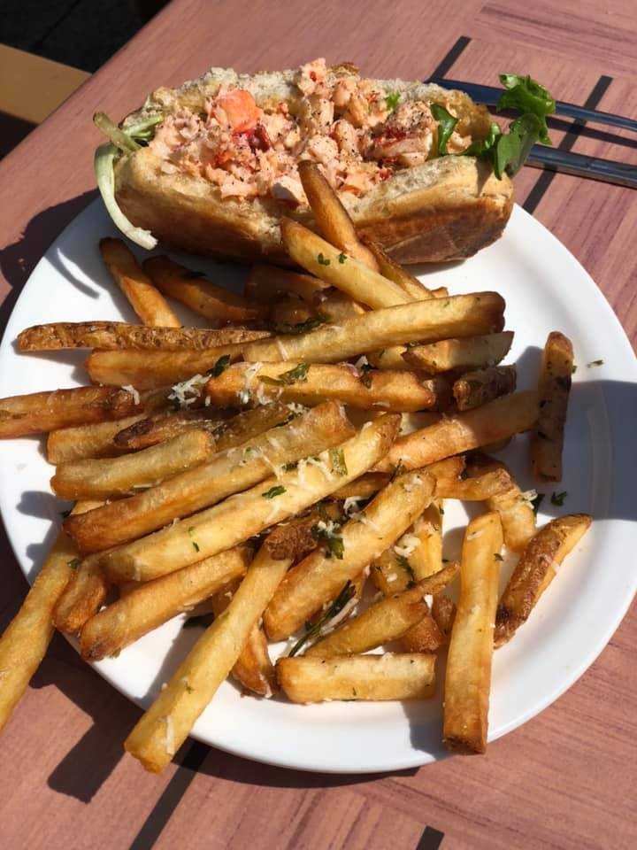 Delicious crab rolls are a featured menu item at Tipsy Tails in Alma, New Brunswick