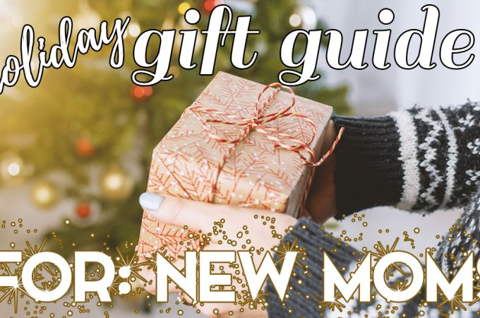 The New Mom Holiday Gift Guide; Know a new mama who could really use some pampering this Christmas? Here are some great present options for her! #newmomgifts #holidaygiftguides