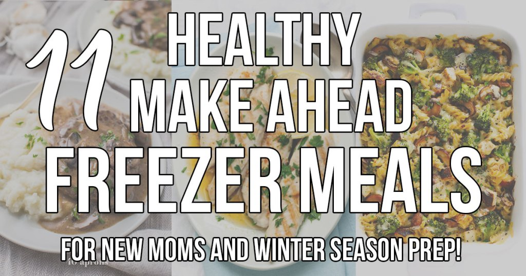 Healthy Make Ahead Freezer Meals for new moms and winter season prep! Crockpot, slow cooker and oven dinner ideas to freeze and pull out when ready to cook! - #glutenfree #dairyfree #healthy #freezermeals