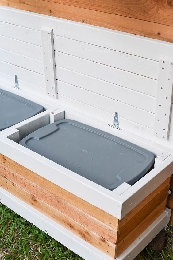15 Deck Must Haves for Summer Entertaining; outdoor storage, waterproof bin storage