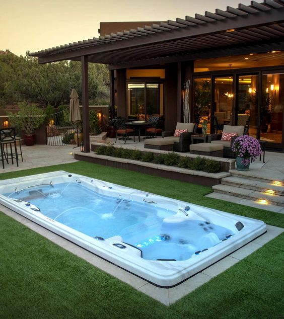 7 Beautiful Swimming Pools Your Backyard Needs; here are 7 gorgeous spa like below ground pools your backyard needs this year!