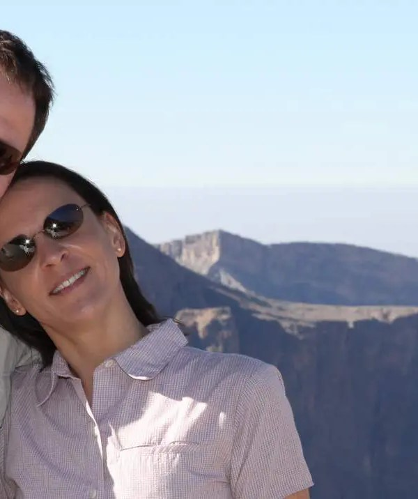 Nikki und Michi auf dem Jebel al Achdar