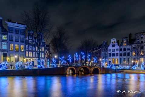Amsterdam Light Festival watercolours 2015