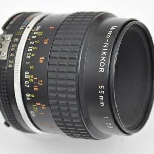 Nikon Micro Nikkor 55mm 2.8 AIS manuell nikonanalog