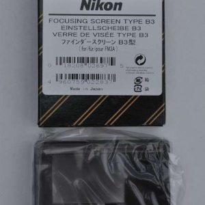 Nikon FM3A Einstellscheibe Type B3 - in OVP mit Beschreibung - Verkauf - Workshops - Testen - Beraten - nikonanalog.de - Onlineshop