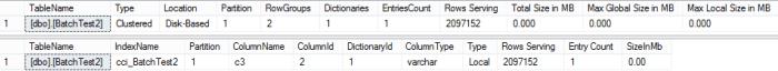 BatchTest Dictionaries after adding new column