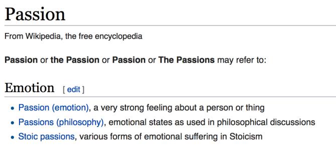 The Enterprise Passion