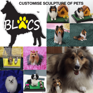 Customise Sculpture of Dogs Cats Birds Rabbits - produced by Blacs