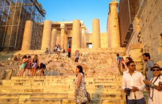 Visitors at the Acropolis. Credit Chris Carmichael for The New York Times