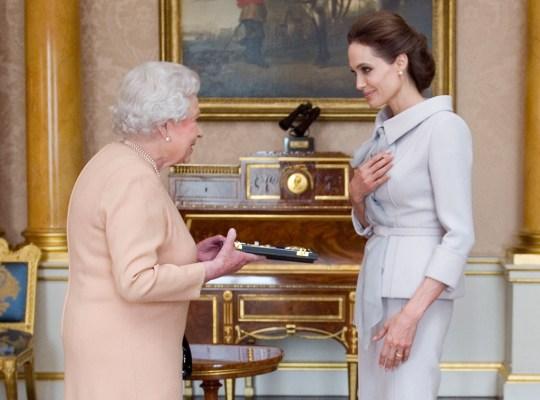 Angelina Jolie, Queen Elizabeth II, Dame