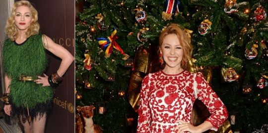 Merry-Christmas, madonna, Kylie Minogue