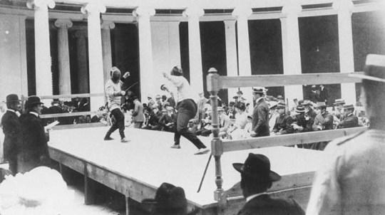 Fencing-A-match, Olympic-Games, olympic_stadium, panathinaiko_stadio, Πρώτοι Σύγχρονοι Ολυμπιακοί αγώνες, Αθήνα 1896