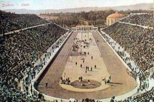 panathinaiko_stadio, Πρώτοι Σύγχρονοι Ολυμπιακοί αγώνες, Αθήνα 1896