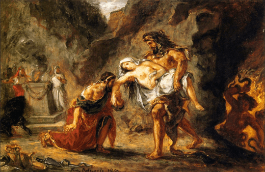 Hercules-Bringing-Alcestis-Back-from-the-Underworld-1862 Eugene-Delacroix