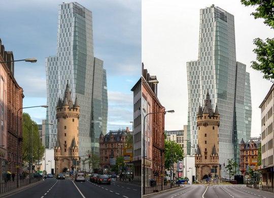 Frankfurt-Nextower, ΑΡΧΙΤΕΚΤΟΝΙΚΗ, ΠΑΛΙΟ, ΚΑΙΝΟΥΡΓΙΟ, ΠΑΝΤΡΕΜΑ ΑΡΧΙΤΕΚΤΟΝΙΚΩΝ ΣΤΥΛ,