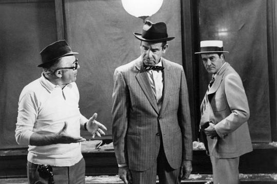 Billy Wilder, Walter Matthau, Jack Lemmon, The Front Page