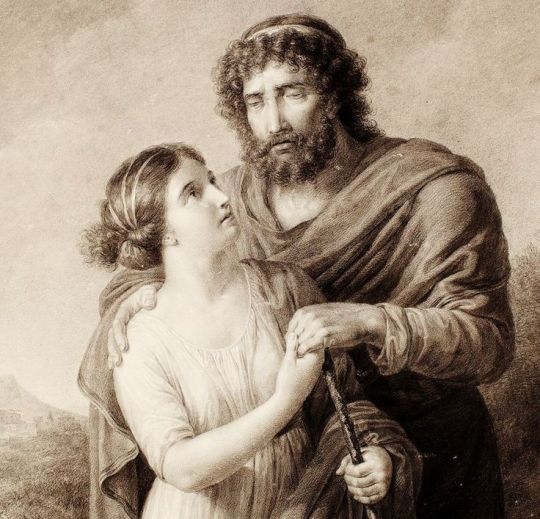 Antigone and Oedipus. 1800. Friedrich Rehberg. German.