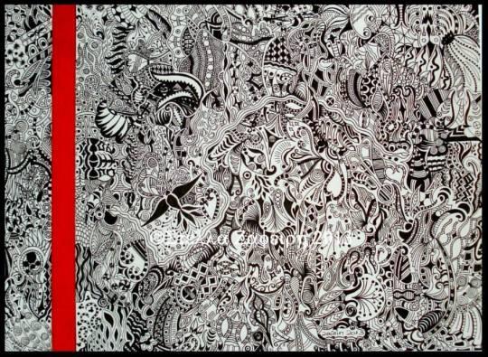 μαρκαδοράκι σε χαρτί, Στέλλα Ζαφείρη, ζωγράφος