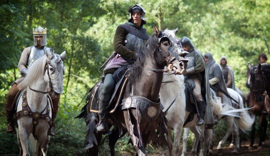 The White Queen, : King Edward IV (MAX IRONS), Lord Warwick (JAMES FRAIN)