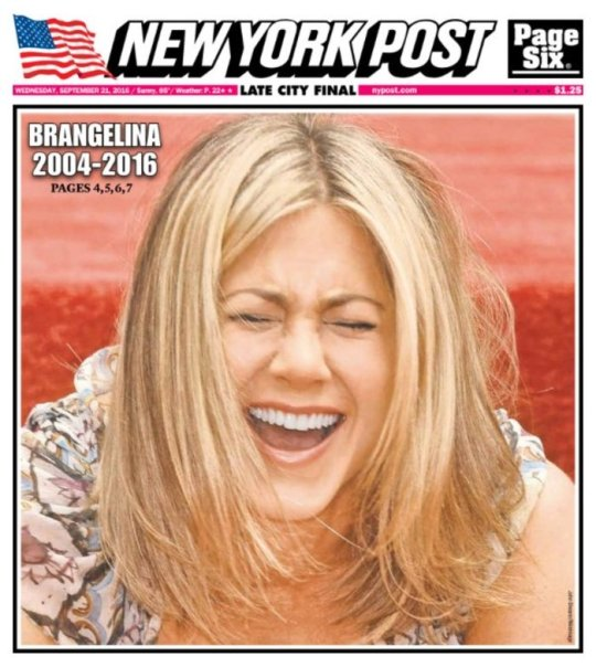 New York post, Jennifer Aniston