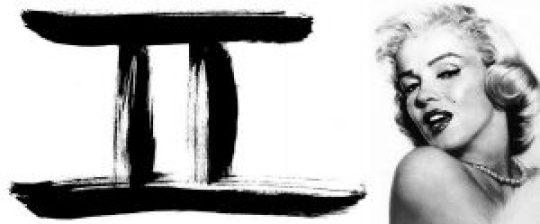 Ζώδιο δίδυμος, Zodiac, Gemini, Monroe, nikosonline.gr