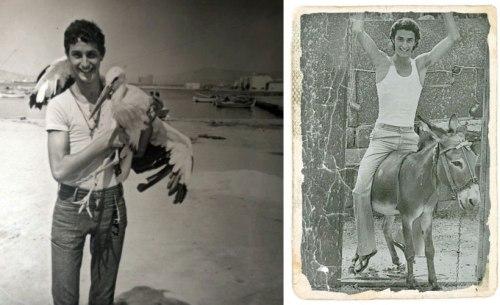 Ο Χρήστος Ρούσσος σε νεαρή ξέγνοιαστη ηλικία