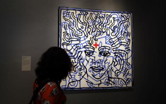 Michael Jackson, On the Wall, ΖΩΓΡΑΦΙΚΗ, ΜΑΙΚΛ ΤΖΑΚΣΟΝ, ΛΟΝΔΙΝΟ,Painting, National Portrait Gallery, London, nikosonline.gr
