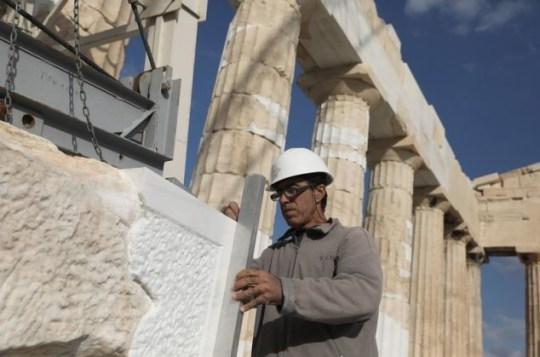 acropolis, parthenon, erga, anastilosi, nikosonline.gr