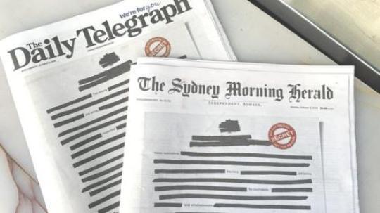 Λογοκρισία στην Αυστραλία, AUSTRALIA, EFIMERIDES, NEWSPAPAERS, LOGOKRISIA, nikosonline.gr