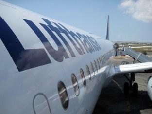 """Mit dem A321 """"Kaiserslautern"""" von Malta nach Frankfurt."""