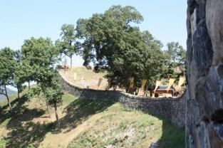 die Festungsmauer von Gongsanseong