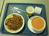Dinner at Malaga Airport
