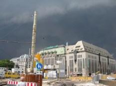 Gewitter dräut über Düsseldorf