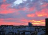Sevillianischer Abendhimmel