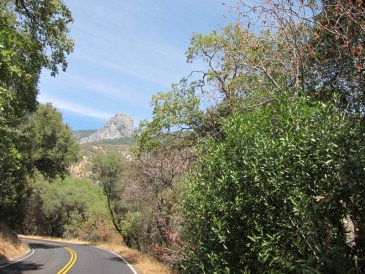am Eingang zum Sequoia NP; Blick auf den Moro Rock