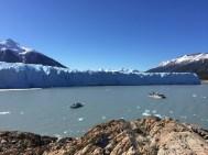 Die Gletscherzunge vom Brazo Rico aus