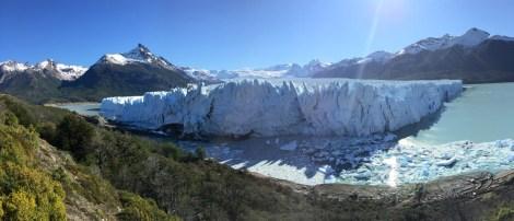 Die Gletscherzunge von der Magellan-Halbinsel aus