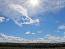 Chilenisch Weite mit Wind