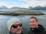 Wir und die Kormorane und die Seelöwen