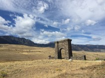 Roosevelt Arch am Nordeingang des Yellowstone NP