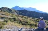 ... mit Blick auf den Berg
