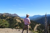 Blick Richtung Mount Rainier und Seattle