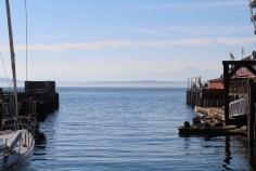 Blick über die Bucht zur Olympic Peninsula
