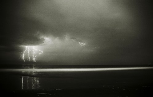 Lightning Over the Pacific - Venice, CA