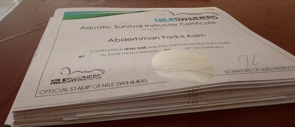 A huge stack of certificates to proudly distribute