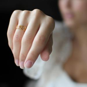 Personalized Roman Numerals Ring