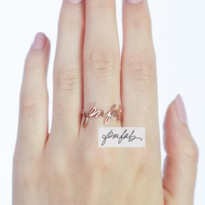 Handwriting Personalized Ring